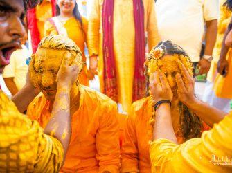 HALDI CEREMONY IN INDIAN WEDDING
